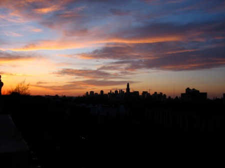 friday night's sunset from my brooklyn rooftop