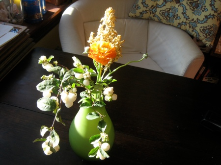 my handpicked bouquet from Saipua, freshening up my living room